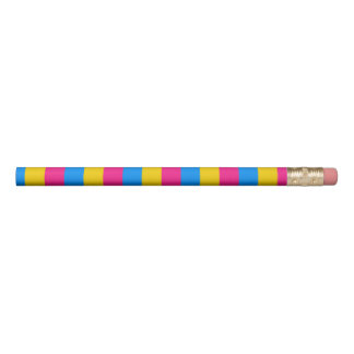 Pansexual pride flag pencil