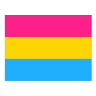 Pansexual Pride flag Postcard