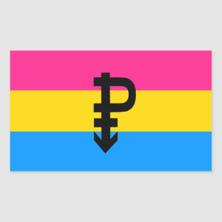 Pansexual Pride Flag Rectangular Sticker
