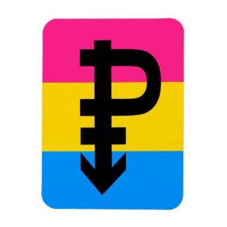 PANSEXUAL PRIDE FLAG STRIPES DESIGN RECTANGLE MAGNET