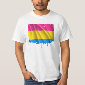 PANSEXUAL PRIDE FLAG WAVY DESIGN T-Shirt
