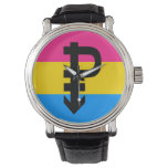 Pansexual Pride Flag Wrist Watch at Zazzle