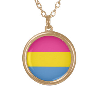 Pansexual Pride Gold Plated Necklace