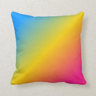 Pansexual pride gradient throw pillow