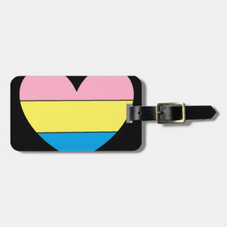 Pansexual Pride heart luggage tag