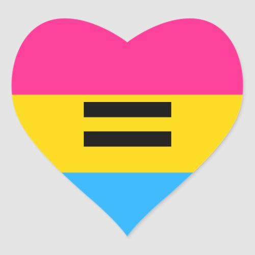 Pansexual Pride Heart Sticker