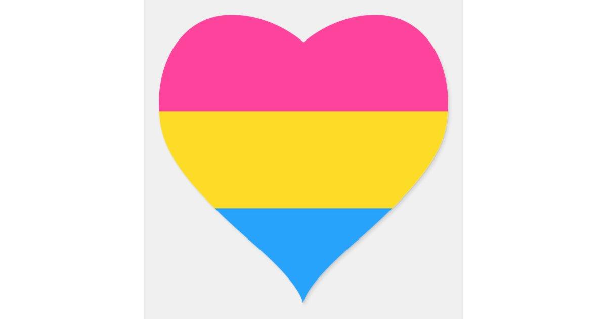 Pansexual Pride Heart Stickers Zazzle Com