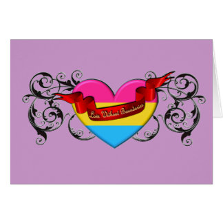 Pansexual Pride: Love Without Boundaries Card
