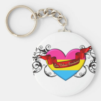 Pansexual Pride: Love Without Boundaries Basic Round Button Keychain