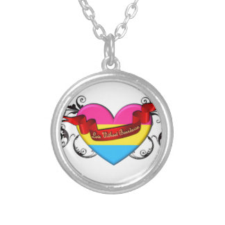 Pansexual Pride: Love Without Boundaries Round Pendant Necklace