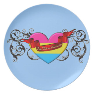 Pansexual Pride: Love Without Boundaries Party Plates