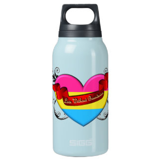 Pansexual Pride: Love Without Boundaries 10 Oz Insulated SIGG Thermos Water Bottle