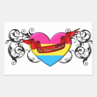 Pansexual Pride: Love Without Boundaries Rectangular Sticker