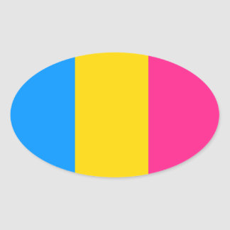 Pansexual Pride Oval Sticker