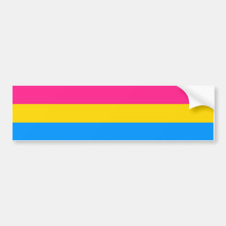 PANSEXUAL PRIDE - .png Car Bumper Sticker