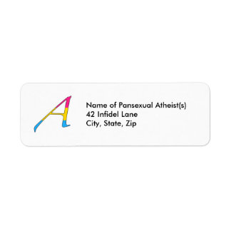 """Pansexual Pride """"Scarlet"""" Letter A Address Labels"""