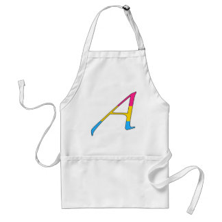 """Pansexual Pride """"Scarlet"""" Letter A Adult Apron"""