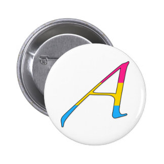 "Pansexual Pride ""Scarlet"" Letter A Pinback Buttons"