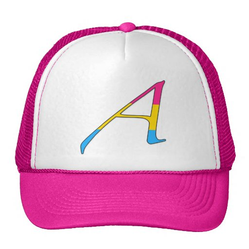 """Pansexual Pride """"Scarlet"""" Letter A Trucker Hat"""