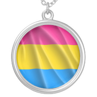 PANSEXUAL PRIDE SILVER PLATED NECKLACE