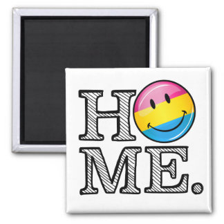 Pansexual Pride Smiling Flag Housewarming 2 Inch Square Magnet