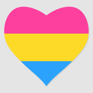 Pansexual Pride stickers - hearts