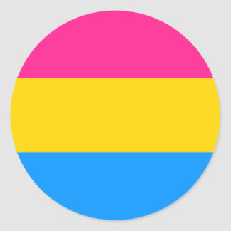 Pansexual Pride stickers - round