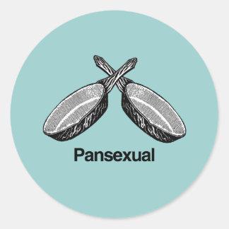 Pansexual - round sticker
