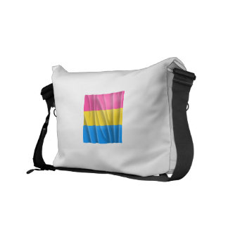 PANSEXUAL STRIPES FLYING MESSENGER BAG