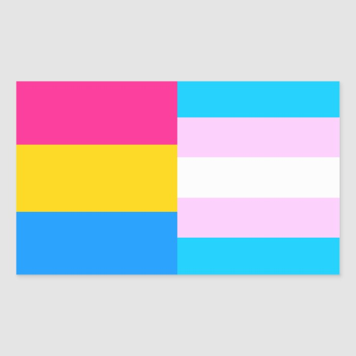Pansexual Trans Pride Flags Sticker Zazzle Com