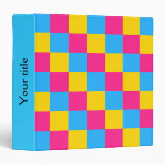 Pansexuality colors checkered pattern Binder Binder