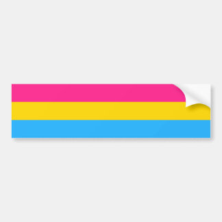 Pansexuality flag Bumper Sticker