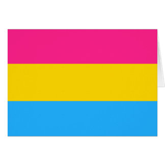 Pansexuality flag card