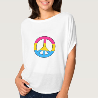 Pansexuality flag peace sign Top