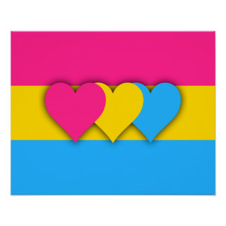 Pansexuality flag Poster Poster