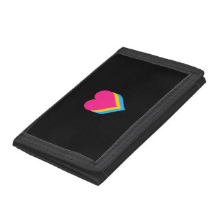Pansexuality pride hearts tri-fold wallets