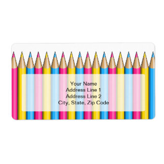 Pansexuality pride pencils Shipping Labels