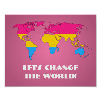 Pansexuality pride world mapposter posters