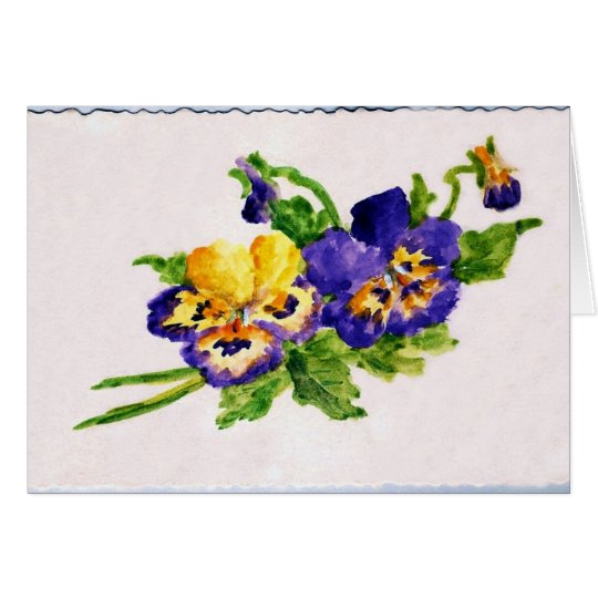 Pansey Painting Card