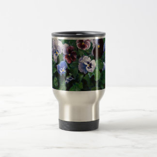 Pansies 15 Oz Stainless Steel Travel Mug