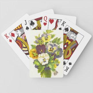 Pansies 1874 poker cards