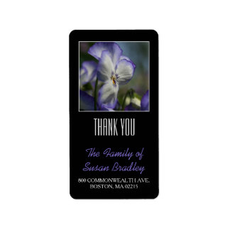 Pansies 1 Custom Family Thank You Label