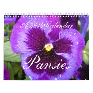 Pansies 2014 calendars