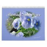 Pansies 2016 Calendar-customize year needed Calendar