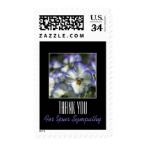 Pansies 2 Memorial Sympathy Thank You Postage