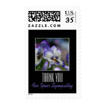 Pansies 3 Memorial Sympathy Thank You Postage
