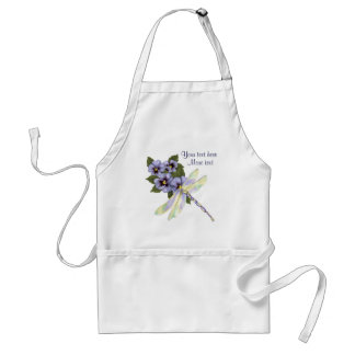 Pansies and Dragonfly Adult Apron