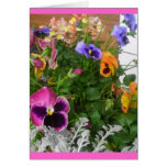 Pansies and snapdragons stationery note card