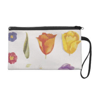 Pansies and Tulips Wristlets