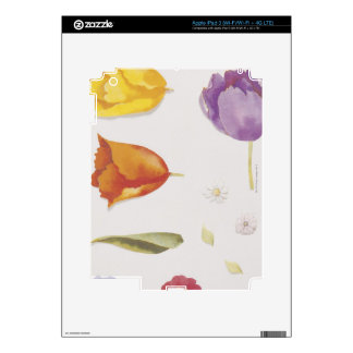 Pansies and Tulips Skin For iPad 3